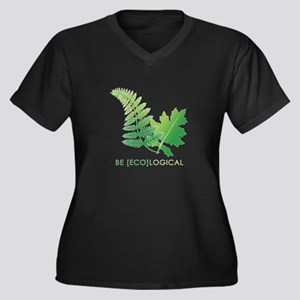 Be [Eco]Logical - Leaves Women's Plus Size V-Neck